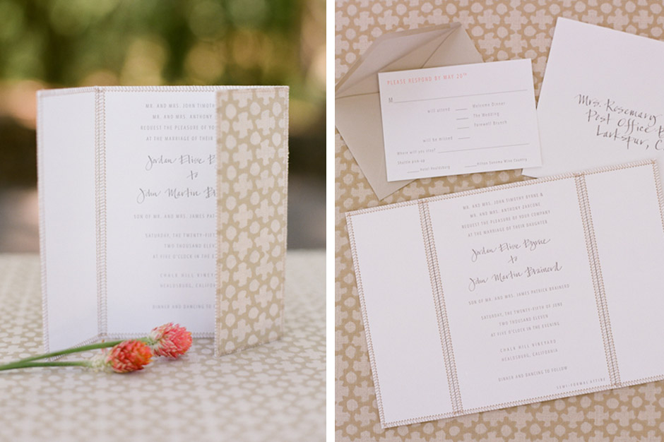 Letterpress Gatefold Wedding Invitation
