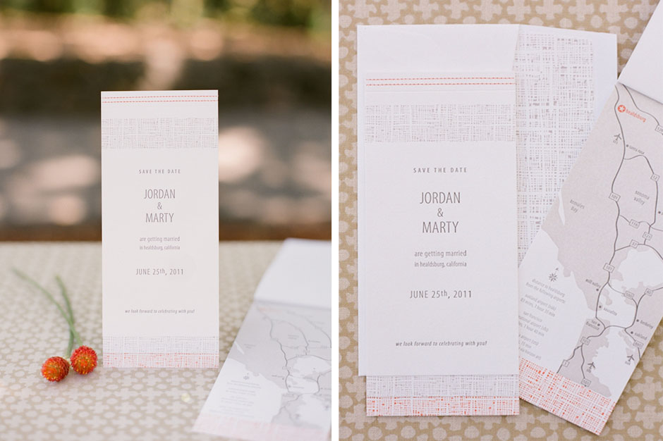 Sewn Save The Date Booklet