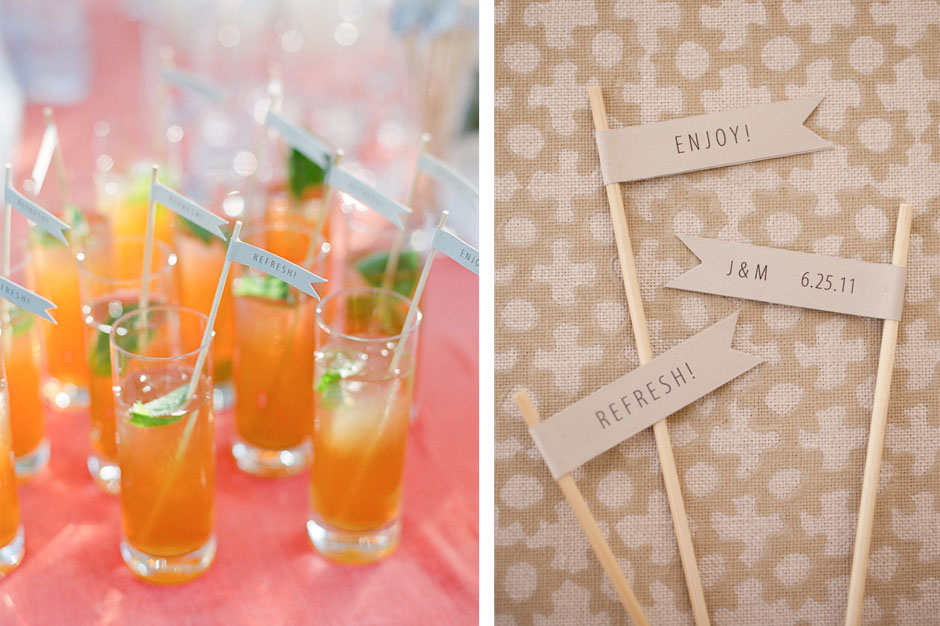 Custom Paper Flags for Drinks