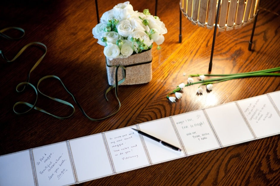 Sewn Accordion Guest Book Writing
