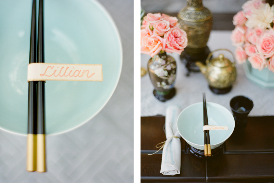 Chopstick Painted Place Card