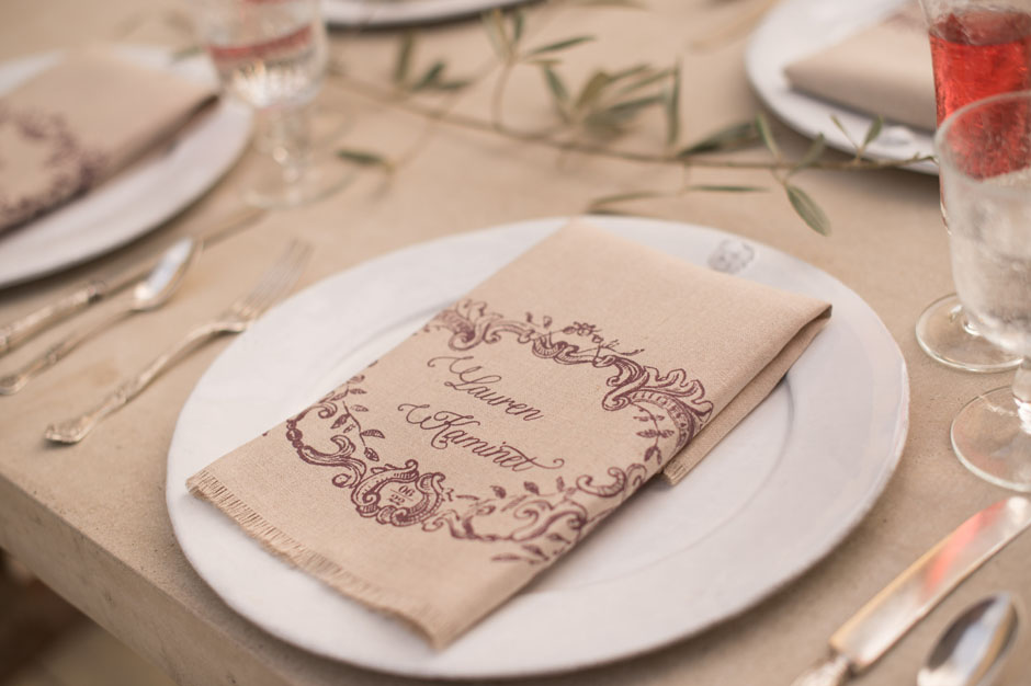 Custom Printed Linen Fabric Napkin