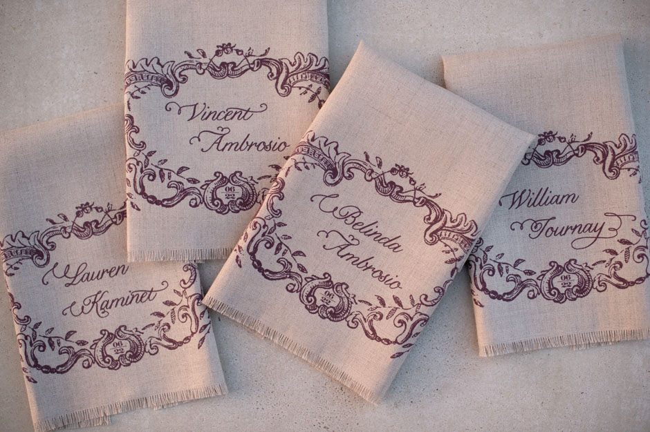 Custom Printed Linen Fabric Napkins