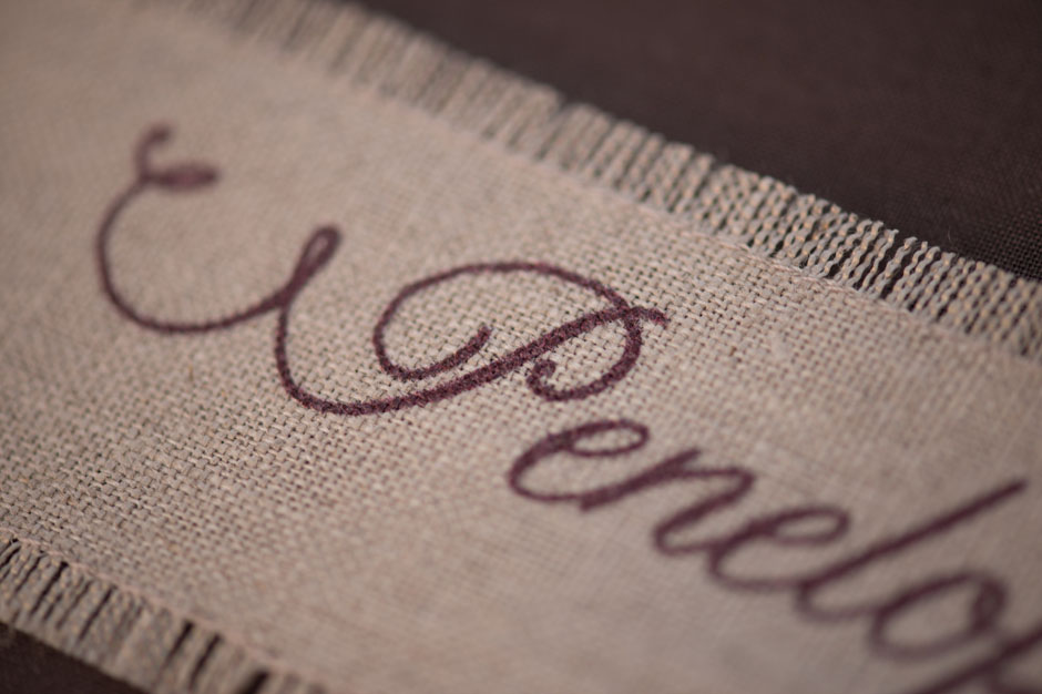 Printed Linen Fabric Close Up