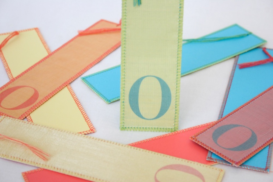 Sewn Bookmarks for Oprah
