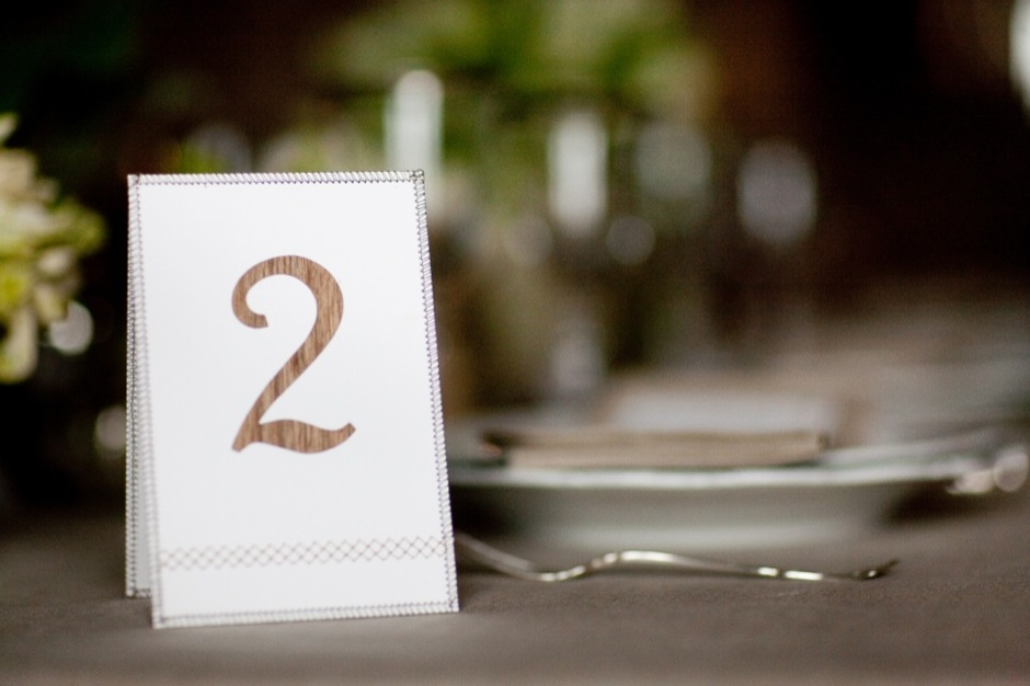Sewn Table Number Card